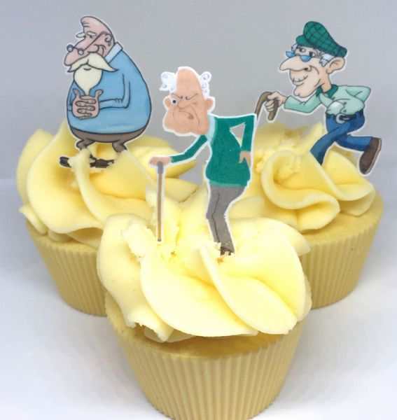 Old Man Cake Topper